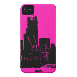 London skyline pink - digitally altered iPhone 4 Case-Mate case