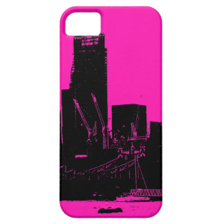 London skyline pink - digitally altered iPhone SE/5/5s case