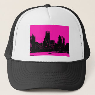 London skyline pink - digitally altered trucker hat