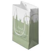 London Skyline Sage Gift Bag