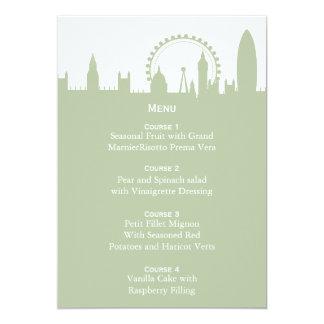 London Skyline Sage Menu Cards