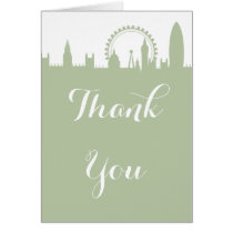 London Skyline Sage Party Thank you Card