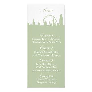 London Skyline Sage Personalized Menu cards