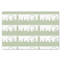 London Skyline Sage tissues paper