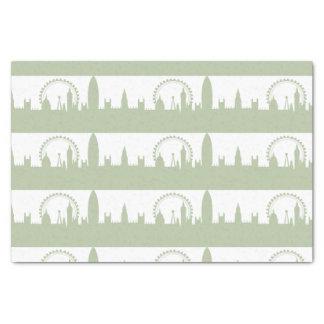 London Skyline Sage tissues paper