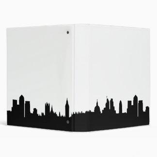 London skyline silhouette cityscape 3 ring binder