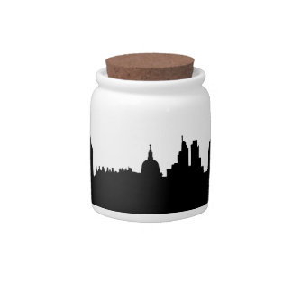 London skyline silhouette cityscape candy jars