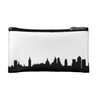 London skyline silhouette cityscape cosmetic bag
