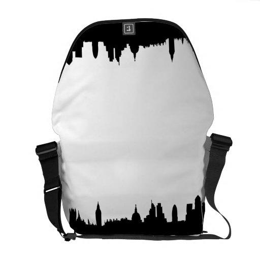 London skyline silhouette cityscape courier bags