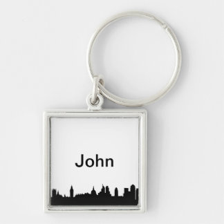 London skyline silhouette cityscape keychain