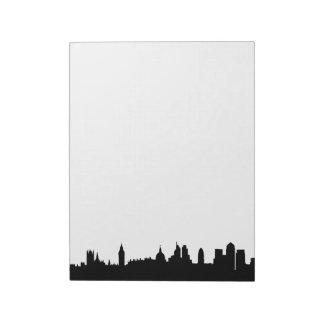 London skyline silhouette cityscape notepad
