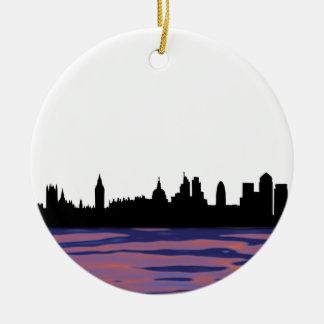 London skyline silhouette cityscape christmas ornament