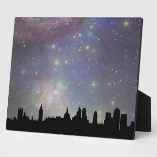 London skyline silhouette cityscape display plaque