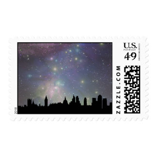 London skyline silhouette cityscape postage stamps