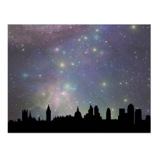 London skyline silhouette cityscape post card