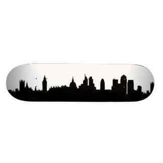 London skyline silhouette cityscape skateboard deck