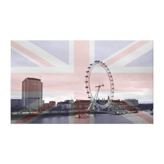 London Skyline Union Jack Flag Canvas Prints