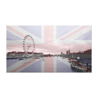 London Skyline Union Jack Flag Canvas Print