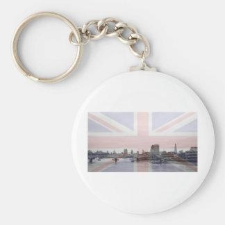 London Skyline Union Jack Flag Keychain