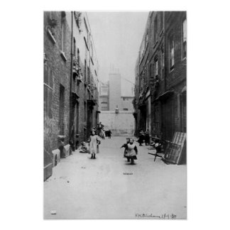 London Slums, 1899 Poster