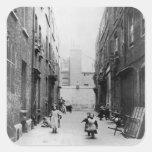 London Slums, 1899 Square Sticker