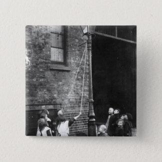 London Slums, c.1900 Button