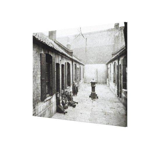London Slums Stretched Canvas Prints