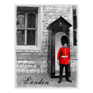 London Soldier Parade Postcard
