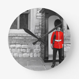 London Soldier Parade Round Clock