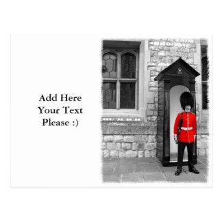 London Soldier Parade - souvenir postcard