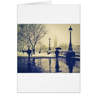 London south bank winter vintage shot card