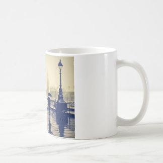 London south bank winter vintage shot coffee mug