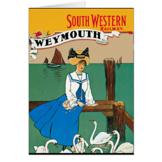 London South Western Railway Weymouth Card