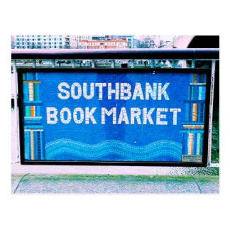 London Southbank Bookmarket Postcard