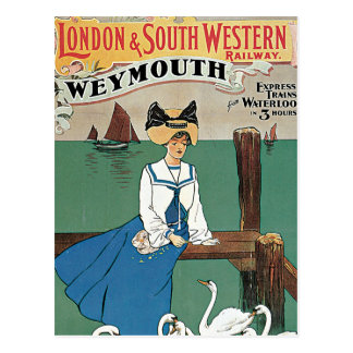 London & Southwestern ~ Weymouth Postcard
