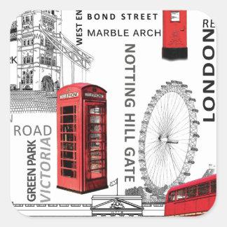 London souvenir merged.jpg square sticker