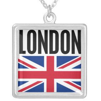 London Square Pendant Necklace
