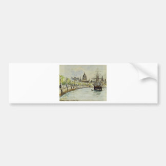 London, St. Paul's Cathedral by Camille Pissarro Bumper Sticker