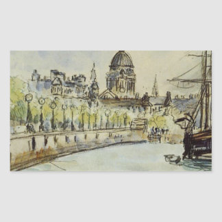 London, St. Paul's Cathedral by Camille Pissarro Rectangular Sticker