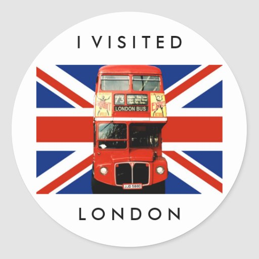 London Stickers with Bus and British Flag