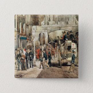 London Street, 1869 Pinback Button
