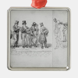 London Street Musicians, c.1820-30 Metal Ornament