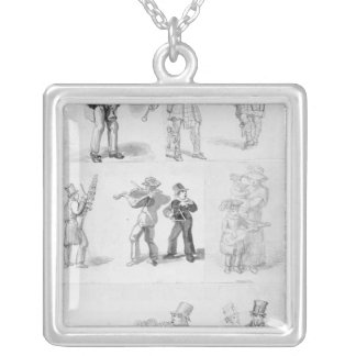 London Street Musicians Silver Plated Necklace
