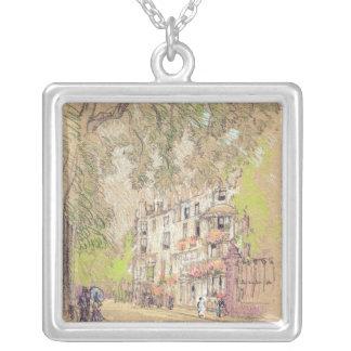 London street square pendant necklace