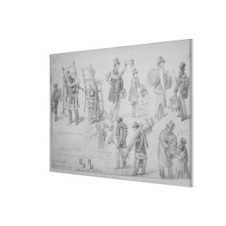 London street traders, 1830-40 canvas print
