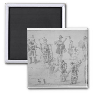 London street traders, 1830-40 refrigerator magnet