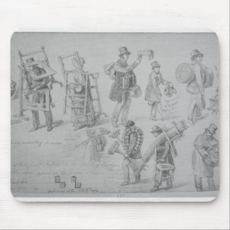 London street traders, 1830-40 mouse pad