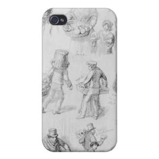 London Street Vendors: The Cries of London, 1843 iPhone 4 Cover