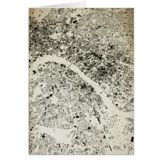 London Streets and Buildings Vintage Map Card