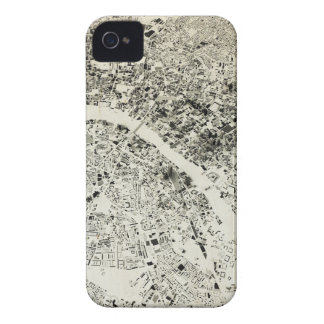 London Streets and Buildings Vintage Map iPhone 4 Cover